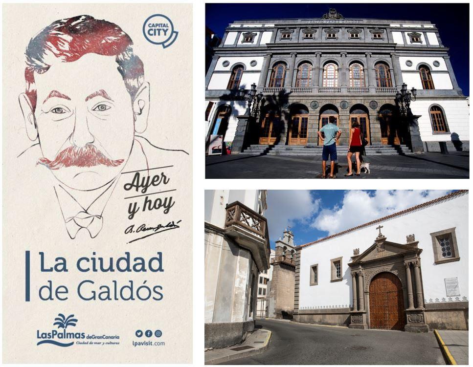 Cartel, Galdos Vegueta y Teatro Perez Galdós. Fotos: Turismo de Las Palmas