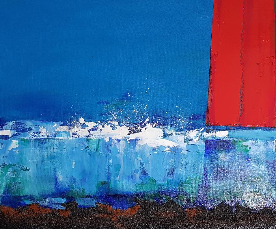 Islas, 2016, acrílico sobre lienzo, 24 x 35 cm.