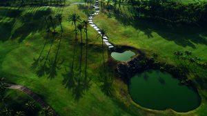 Imagen aérea de Abama Golf.