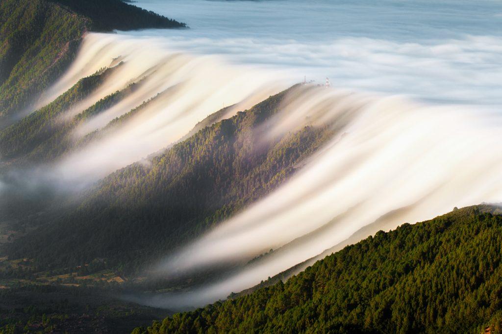 Waterfall of clouds (La Palma. Canary Islands) Dominic Dahncke - Naturajazz 2018