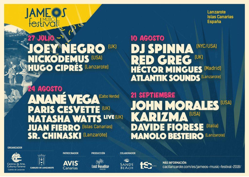 Póster Jameos Music Festival 2018