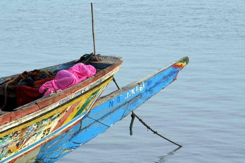 Cayuco de Gambia.