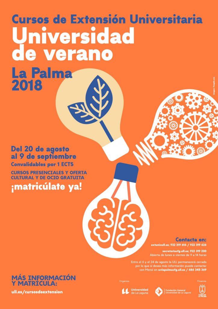 Cartel Universidad de Verano de La Palma 2018