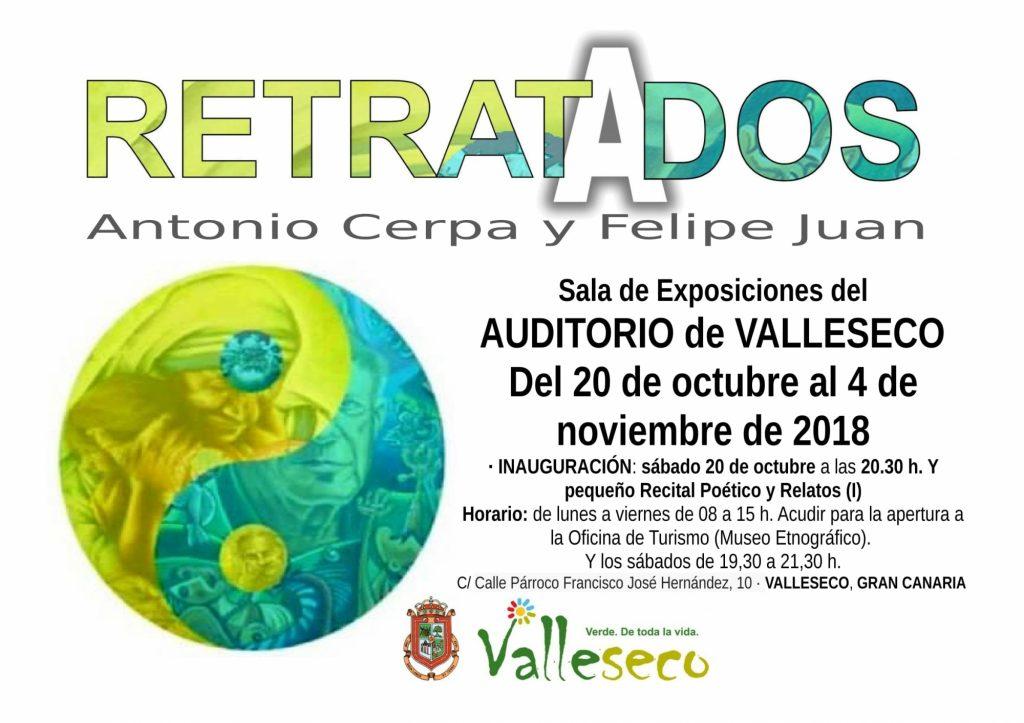 Exposición Retratados (Cartel Valleseco)