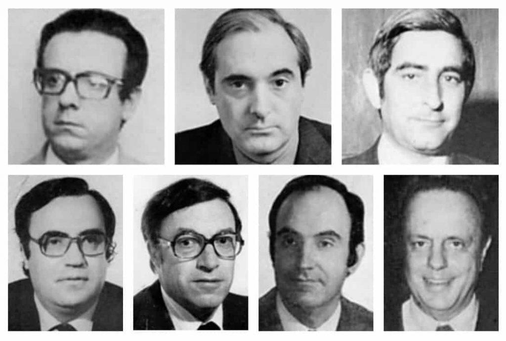 Los siete miembros de la ponencia constitucional
