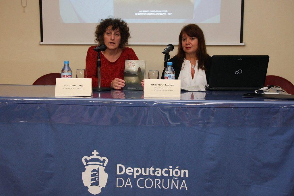 Presentación del libro a cargo de Goretti Sanmartín, Vicepresidenta de la Diputación de A Coruña