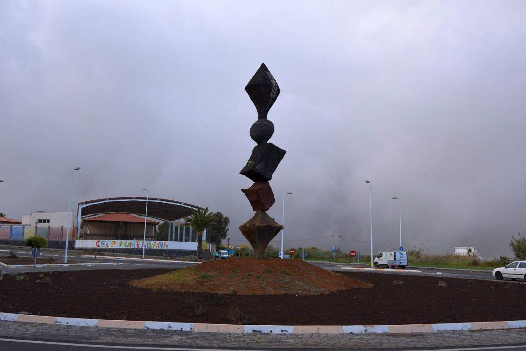 Escultura Rotonda Puntallana, Obra de Tomaso Hernández