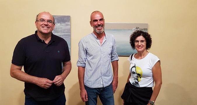 Anselmo Pestana Jovita Monterrey y el pintor Gonzalo Concepción