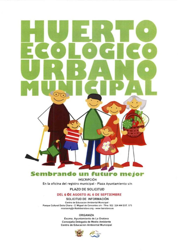 Cartel Huerto Ecologico
